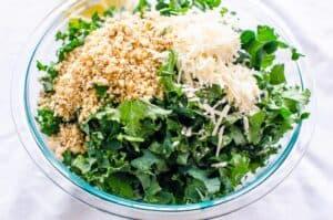 Lemon Kale Salad with Garlic and Parmesan