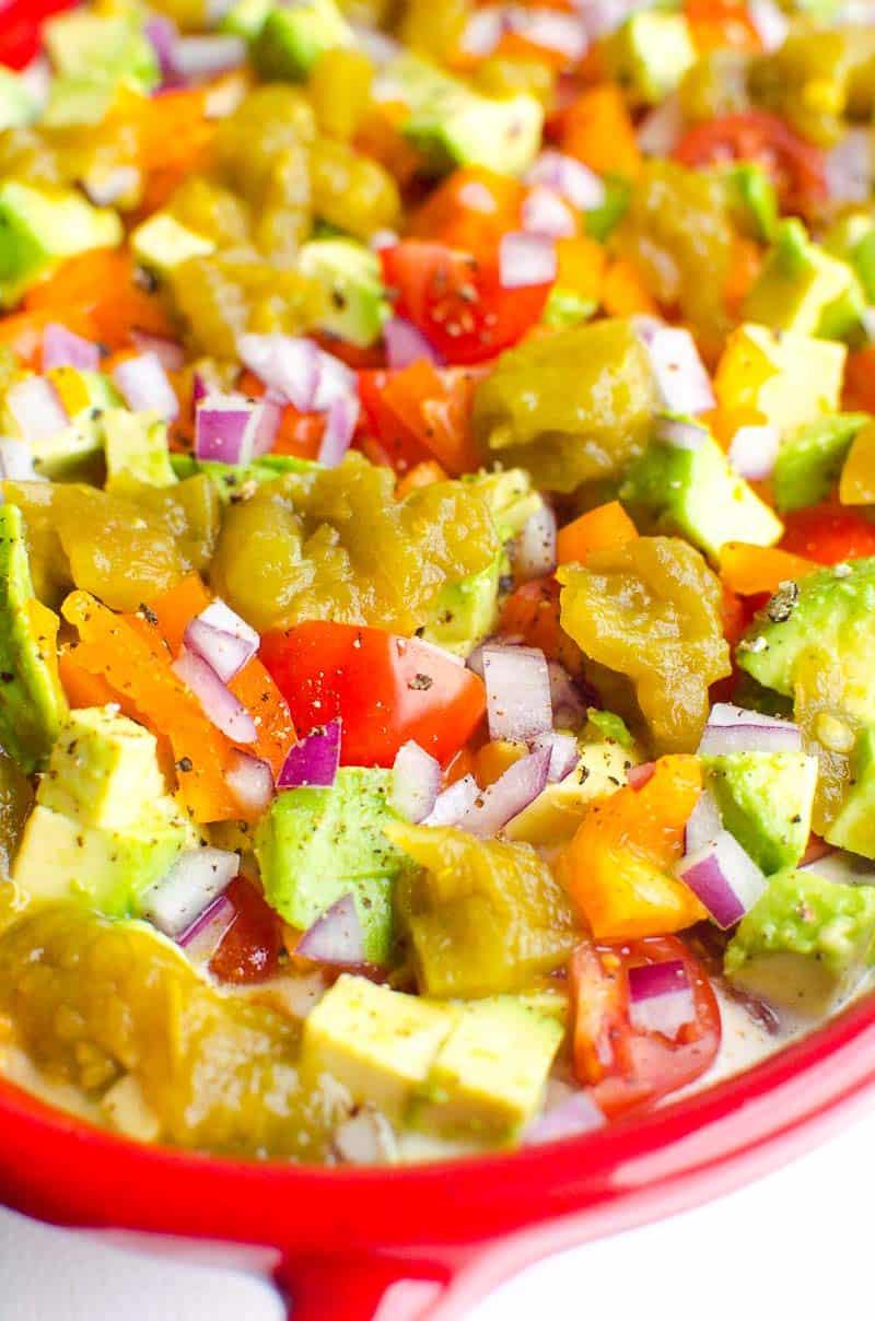 Taco Dip closeup