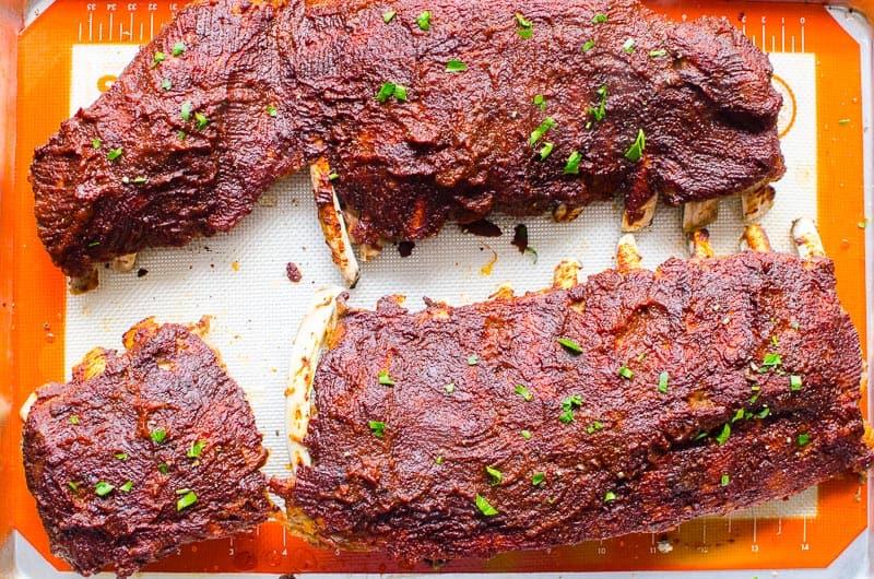 instant pot ribs on silpat mat
