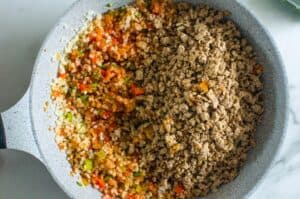 how to make Mexican Cauliflower Rice step by step