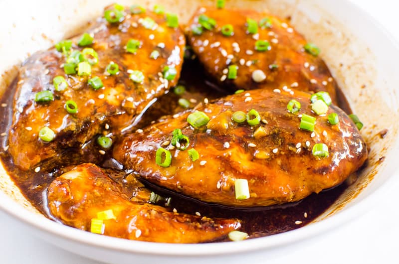 Honey Garlic Chicken served on a plate