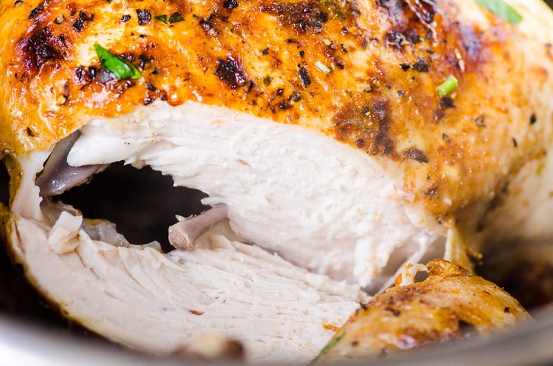Instant Pot Whole Chicken breast sliced