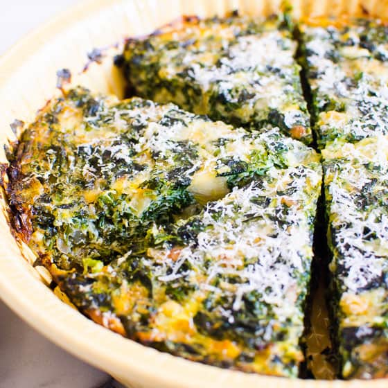 Crustless Spinach Quiche Ifoodreal Com