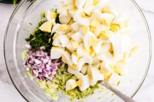 how to make Avocado Egg Salad step by step