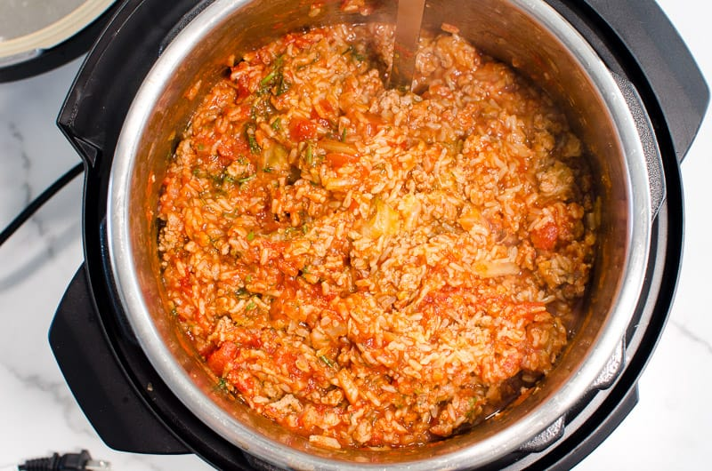 Instant Pot Cabbage Rolls in 6 quart pressure cooker