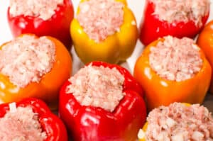 how to make Instant Pot Stuffed Peppers step by step