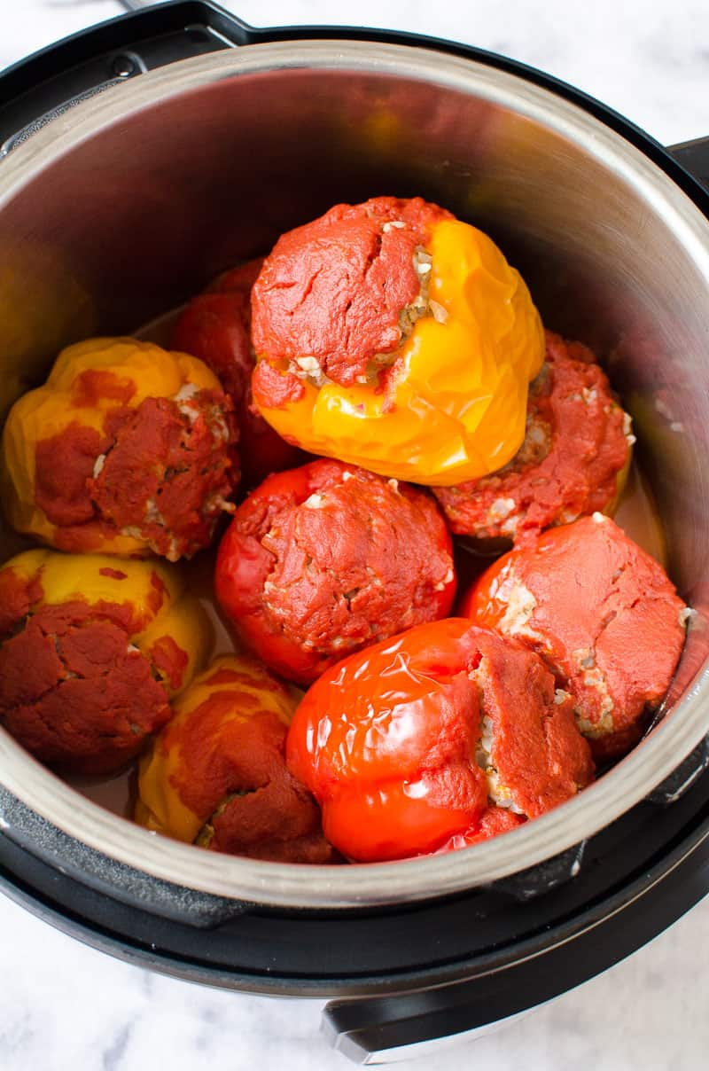 Pressure Cooker Stuffed Peppers in Instant Pot