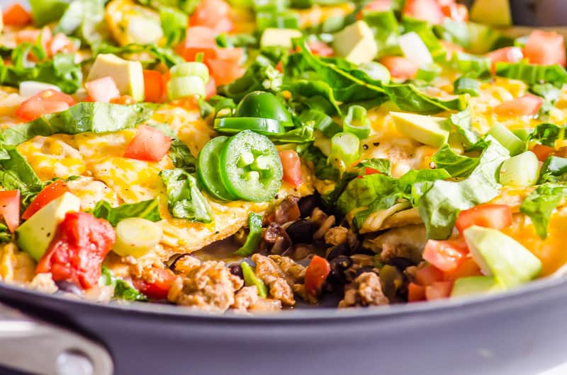 Taco Skillet with ground meat inside