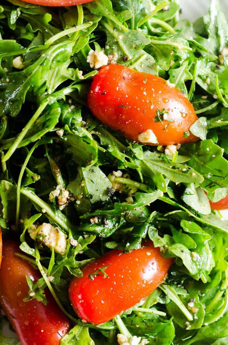 Arugula Salad closeup