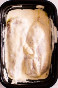 Ranch Chicken Marinade in black container