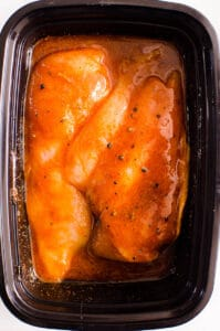 Fajita Chicken Marinade in black container