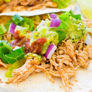 Instant Pot Chicken Tacos (Video)