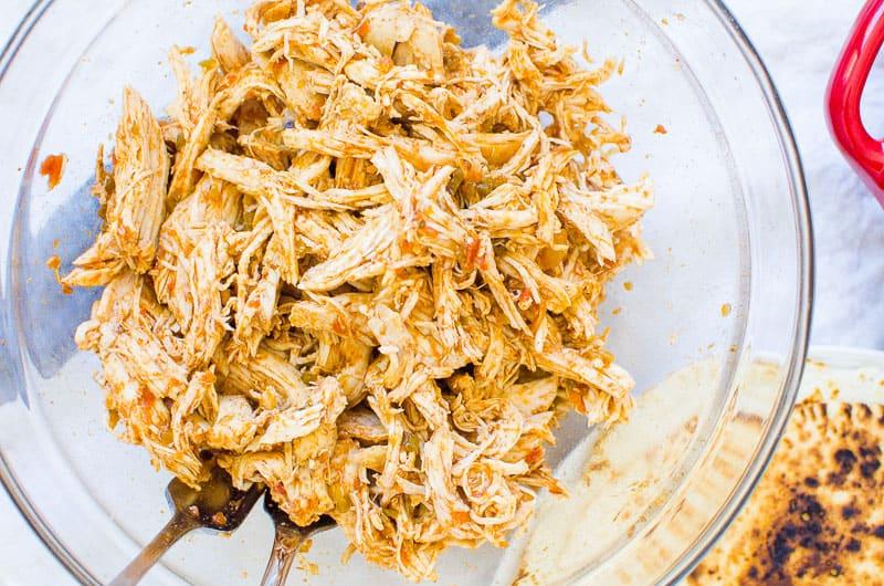 shredded instant pot chicken tacos