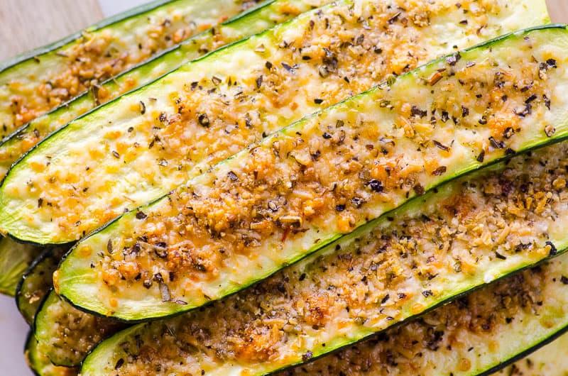 Parmesan Zucchini Sticks stack