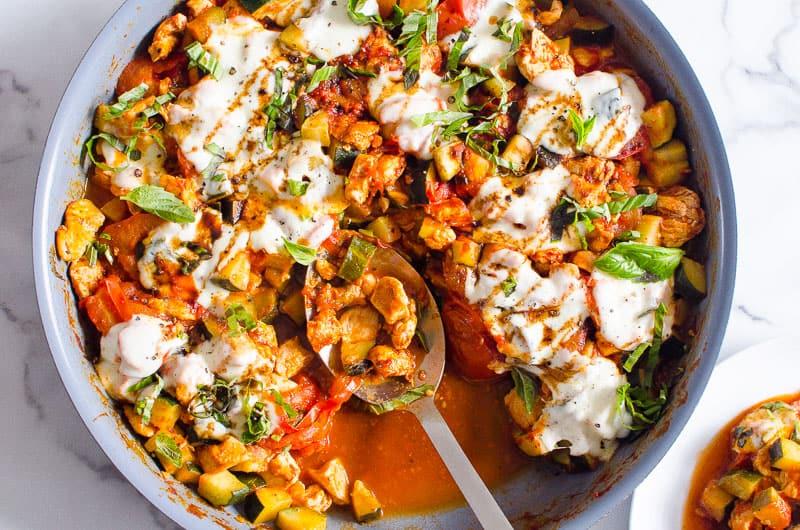Caprese Chicken & Zucchini