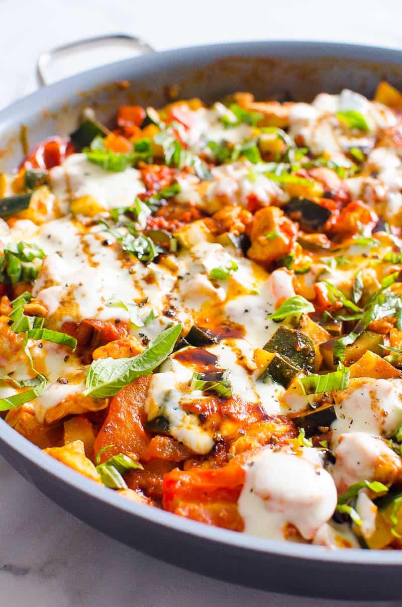 Caprese Chicken and Zucchini recipe