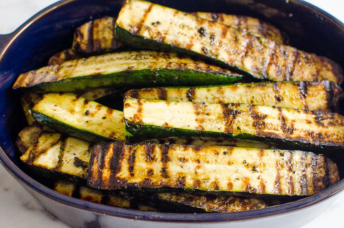 Grilled Zucchini in baking dish