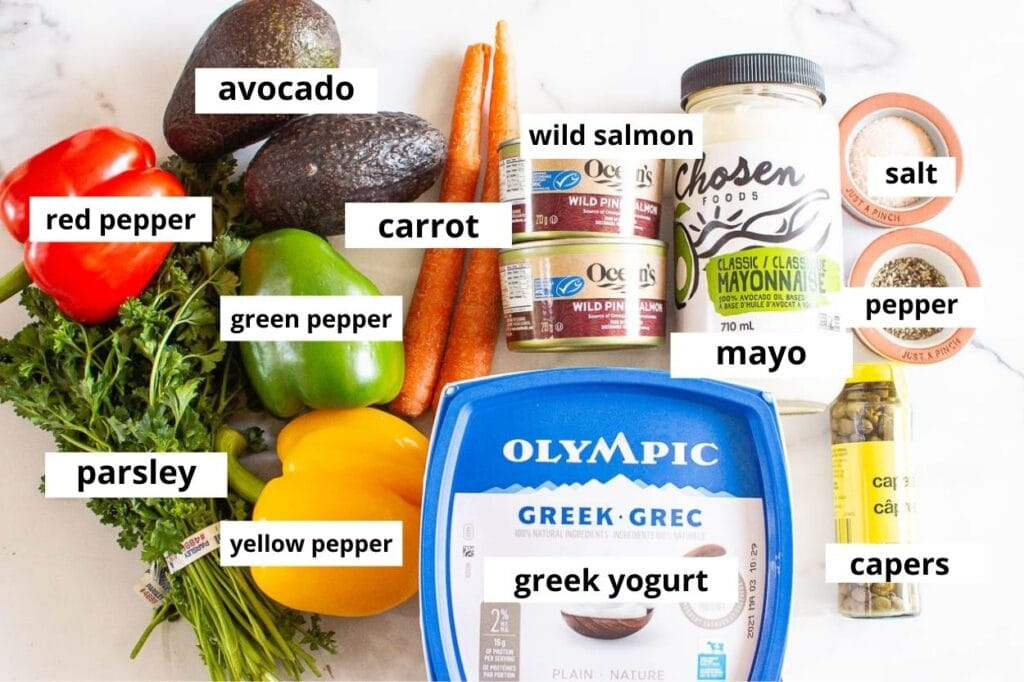 canned salmon salad ingredients