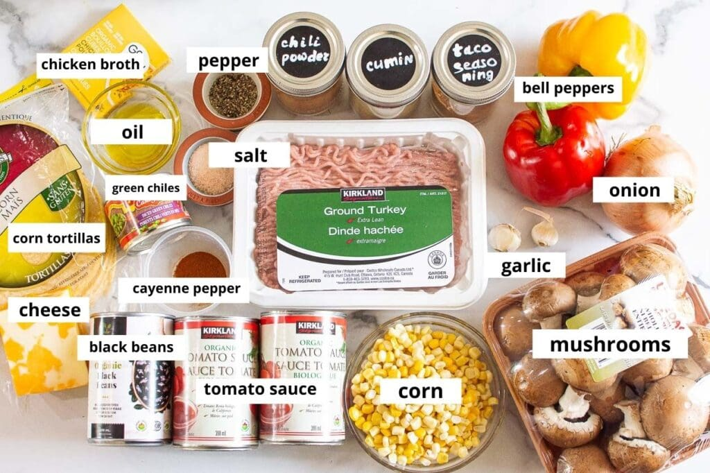 healthy mexican casserole ingredients