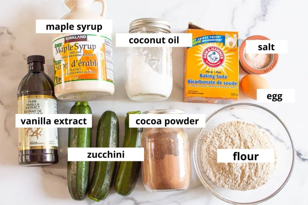 zucchini brownies ingredients