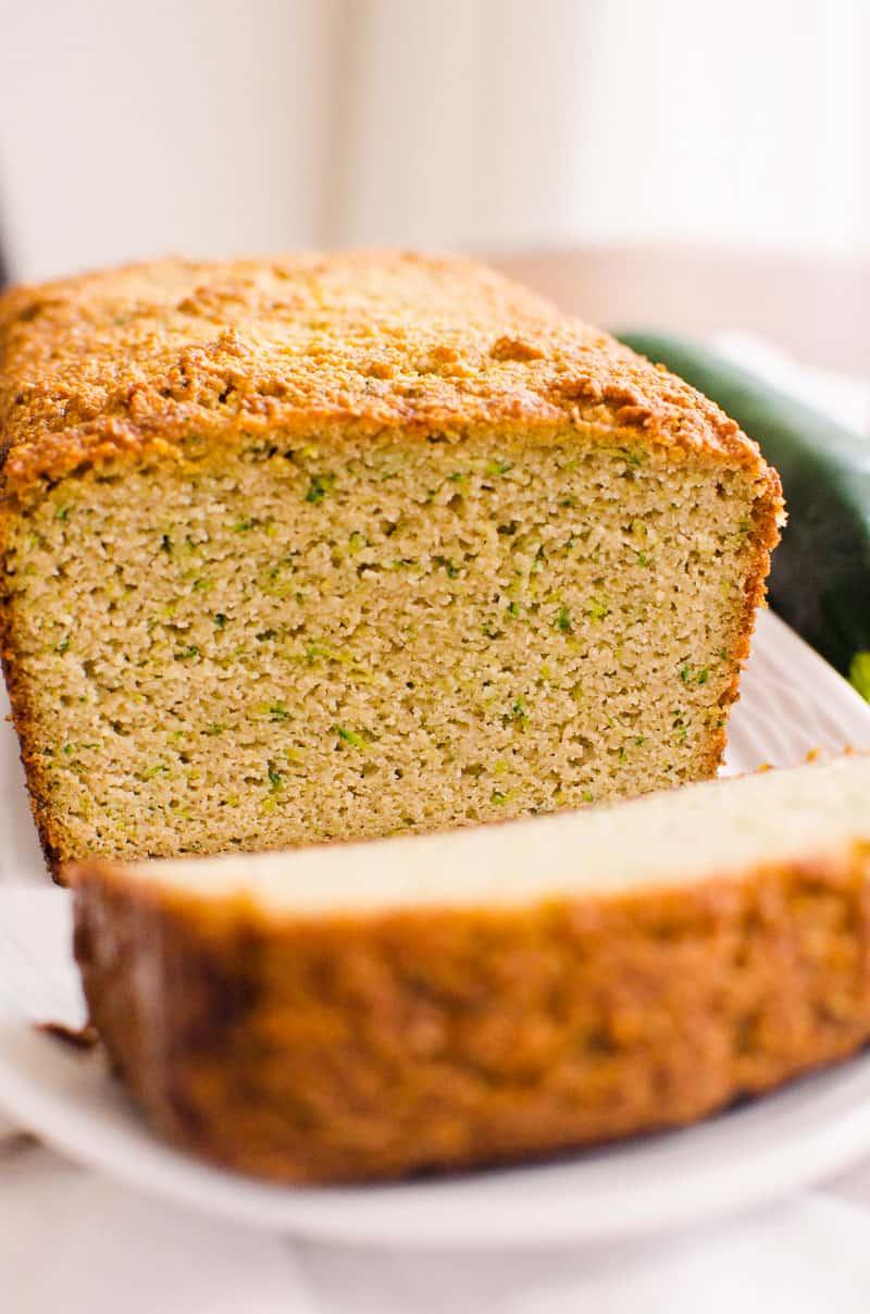 Almond Flour Zucchini Bread texture shown inside