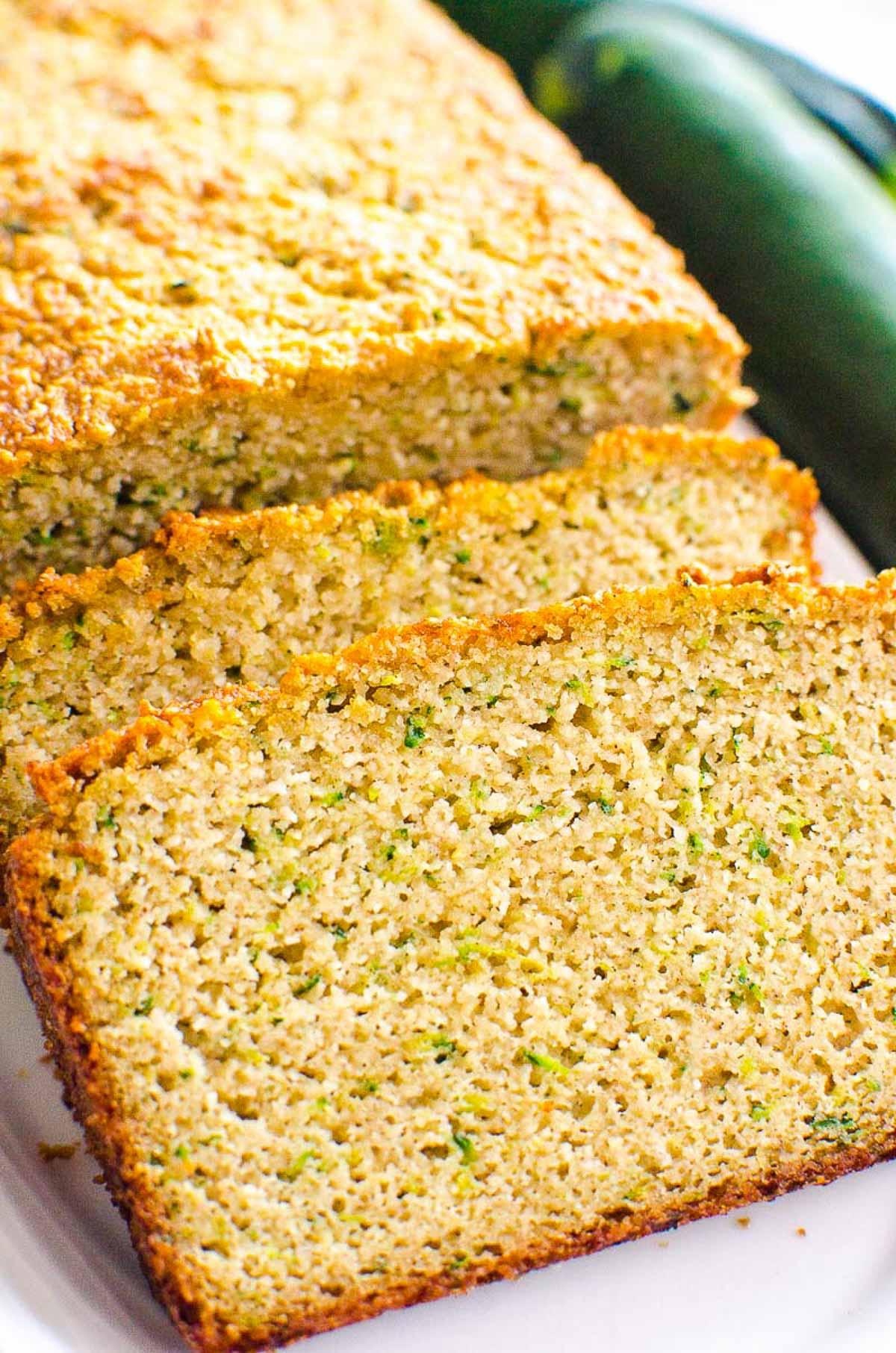 Almond Flour Zucchini Bread slices