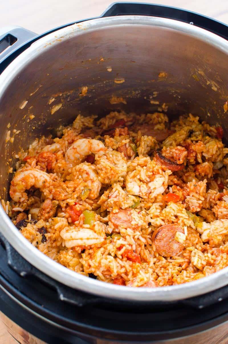 Instant Pot Jambalaya in a pressure cooker