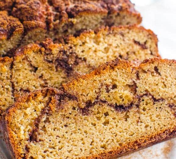 Almond Flour Cinnamon Bread