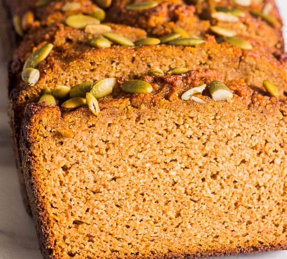Almond Flour Pumpkin Bread