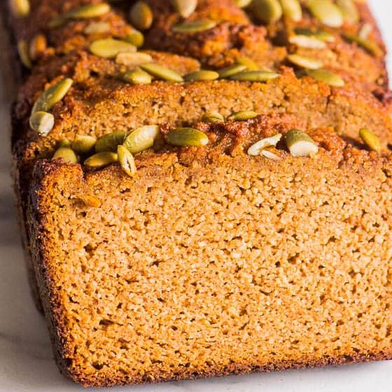 Almond Flour Pumpkin Bread