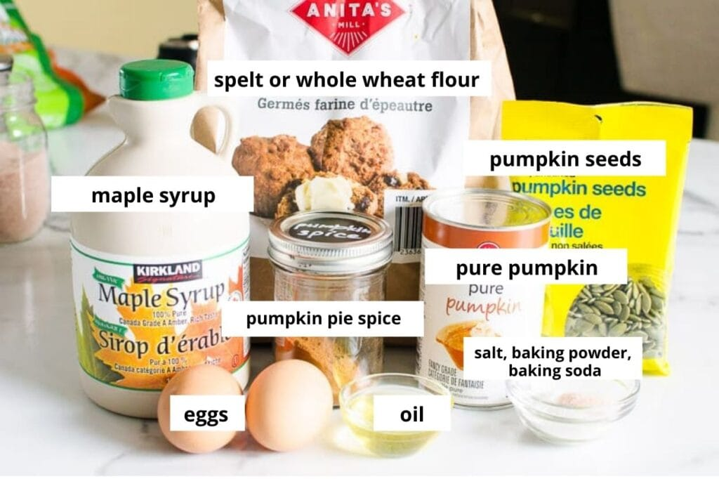 healthy pumpkin loaf ingredients
