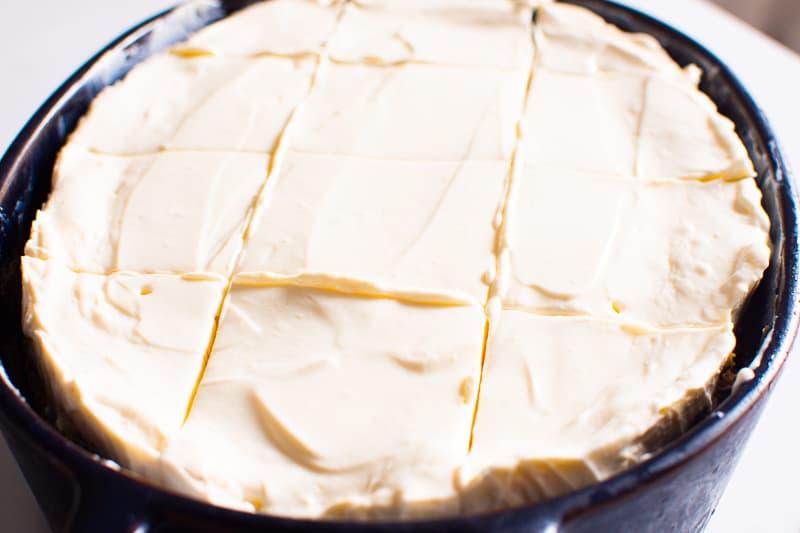 Healthy Pumpkin Cake in baking dish