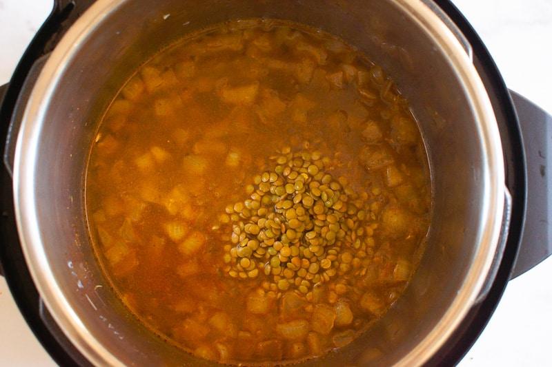 cooking Instant Pot Dal