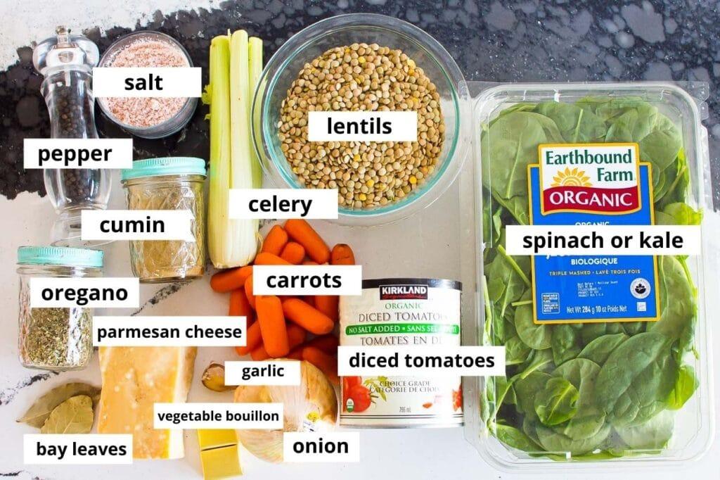 lentil soup ingredients for instant pot cooking