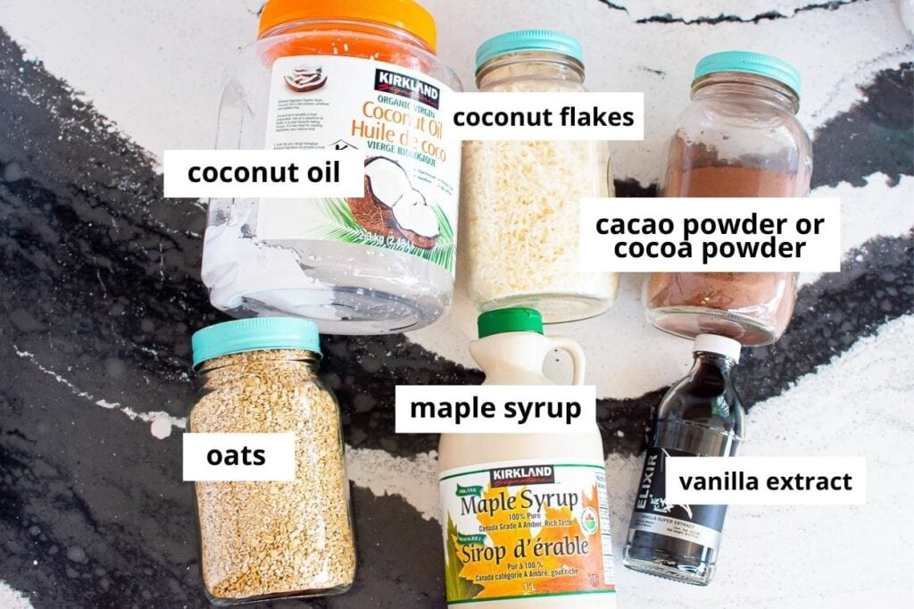 healthy chocolate snacks ingredients for chocolate coconut balls