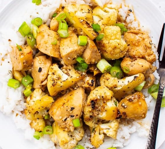 Teriyaki Chicken and Cauliflower