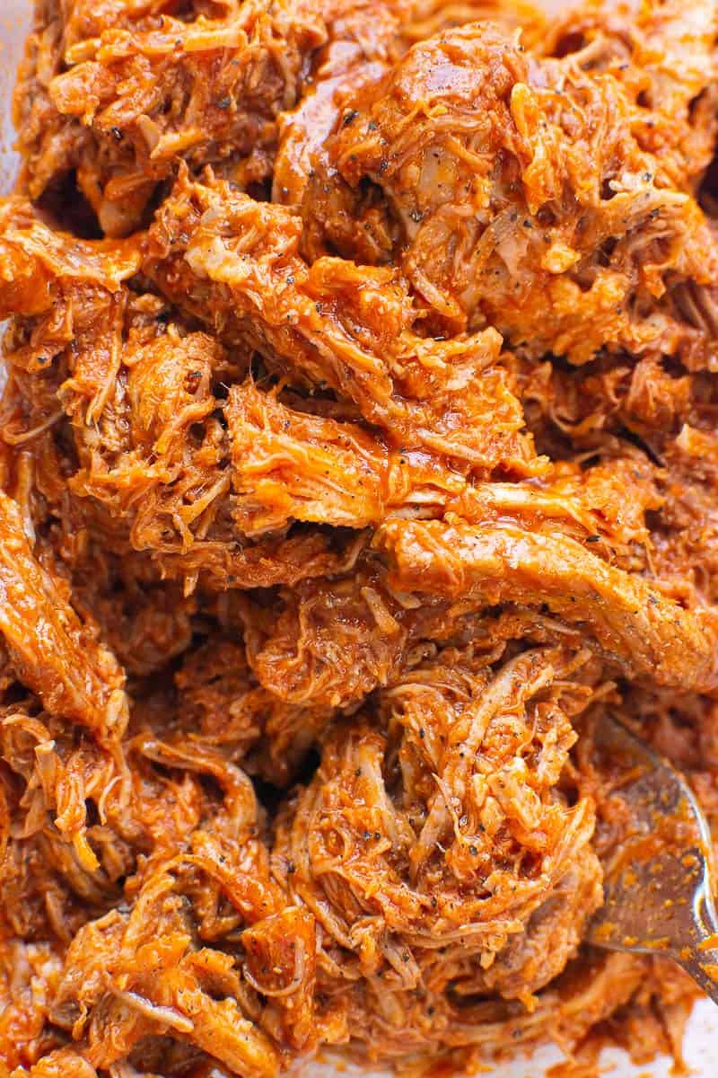Instant Pot Pulled Pork shredded