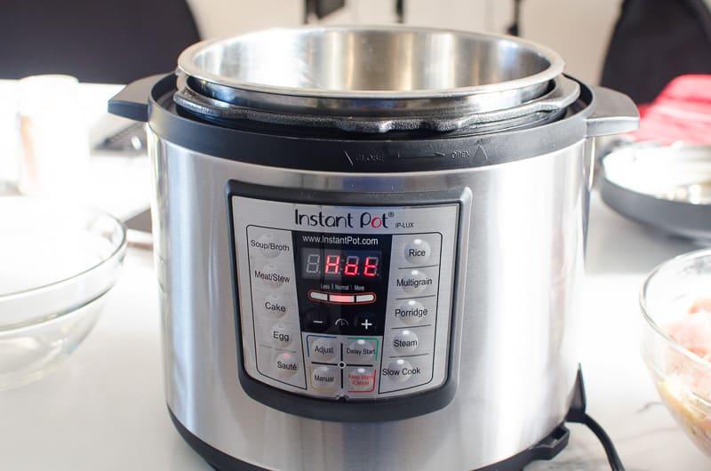 instant pot display says hot