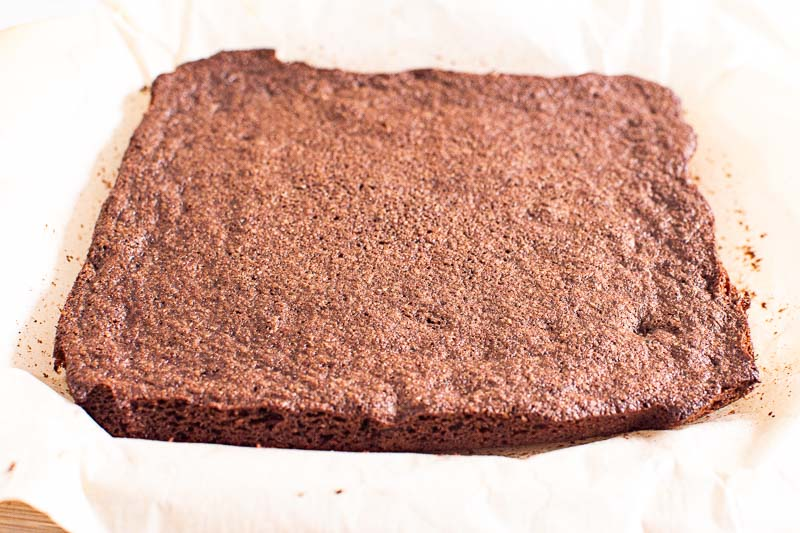 baked unsliced almond flour brownies