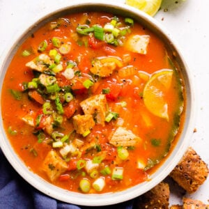 Cilantro Tomato Salmon Soup