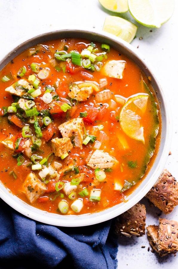 cilantro tomato salmon soup recipe