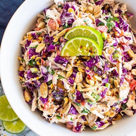 15 Minute Thai Chicken Salad Recipe