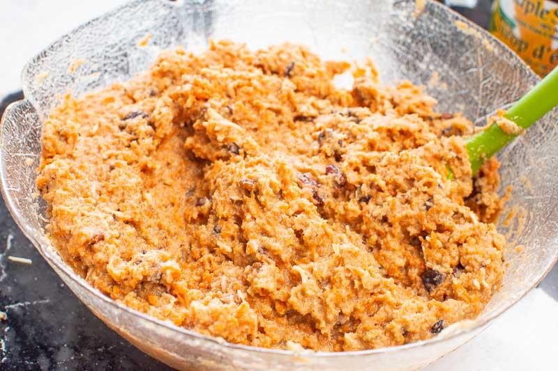 almond flour carrot cake batter