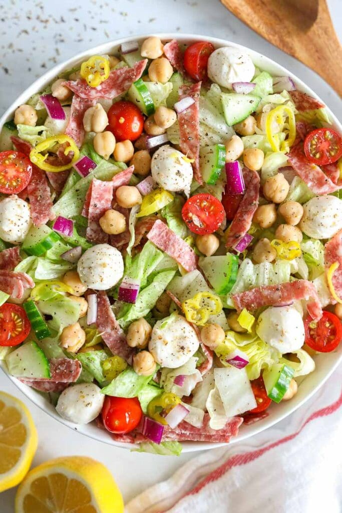 Vertical of Italian Chopped Salad