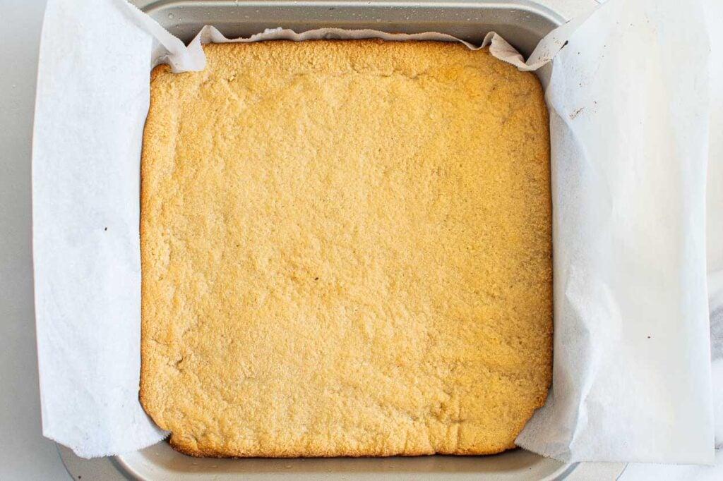 baked gluten free crust for lemon bars