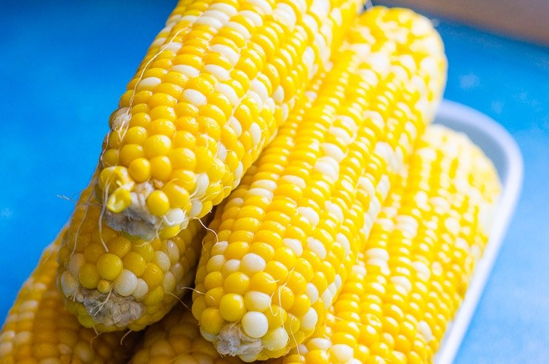 stack of cooked instant pot corn on the cob