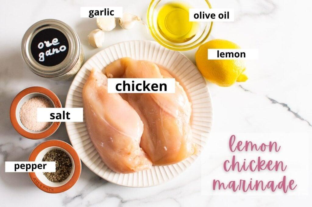 lemon chicken marinade ingredients