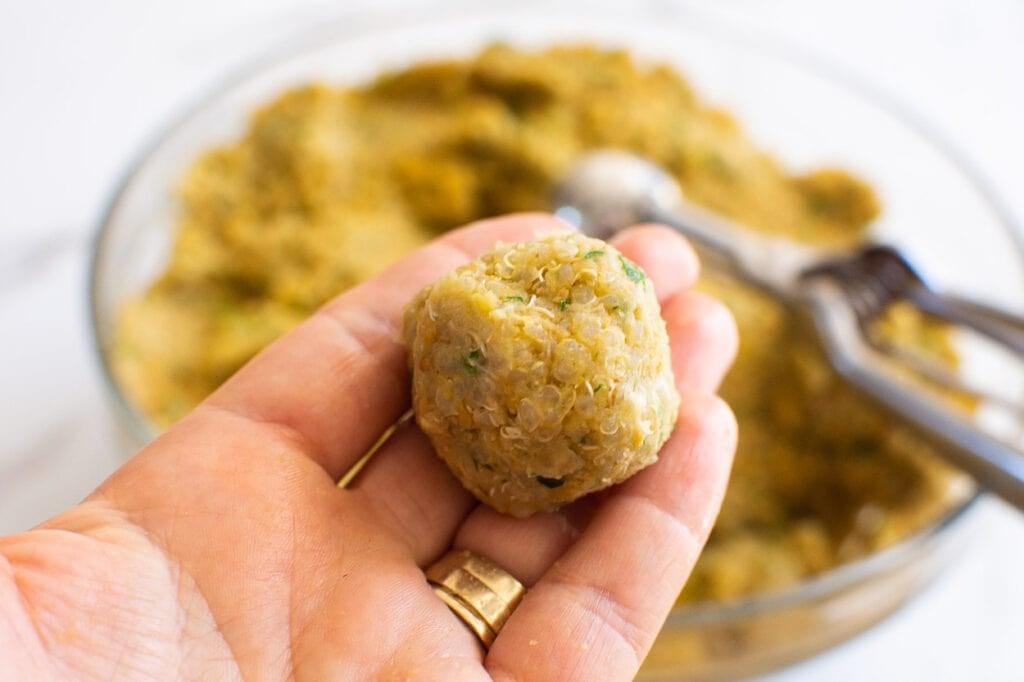 a small falafel ball for air fryer falafel