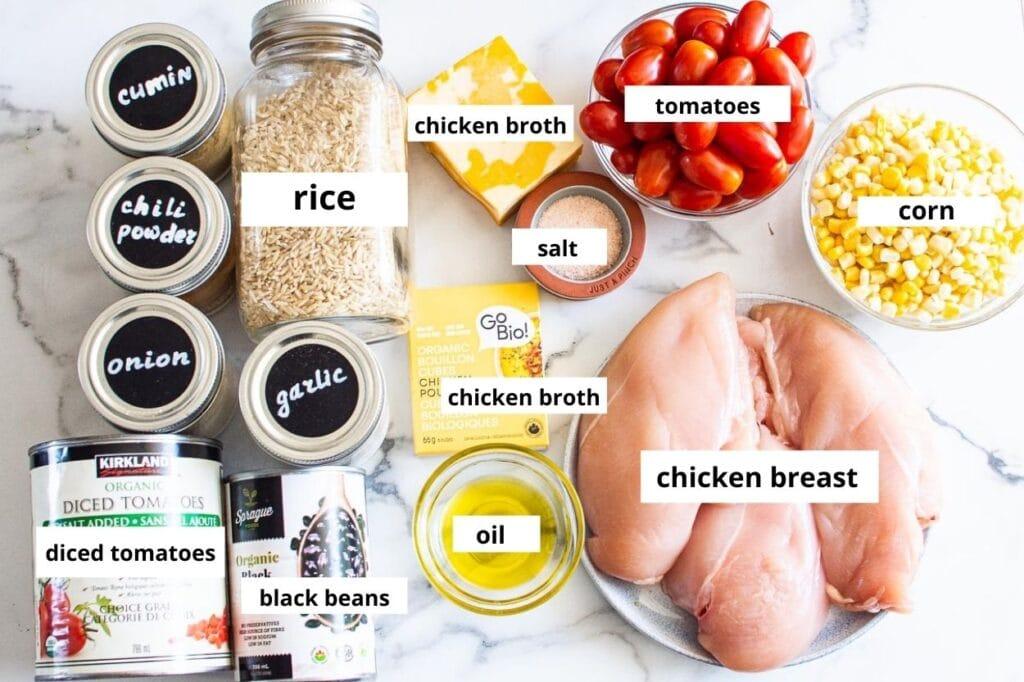 chicken burrito skillet ingredients