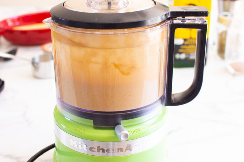 how to make peanut sauce in food processor